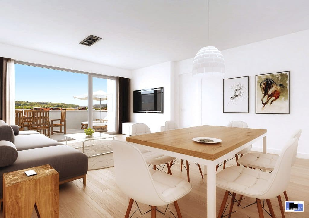 Interior 3d de vivienda
